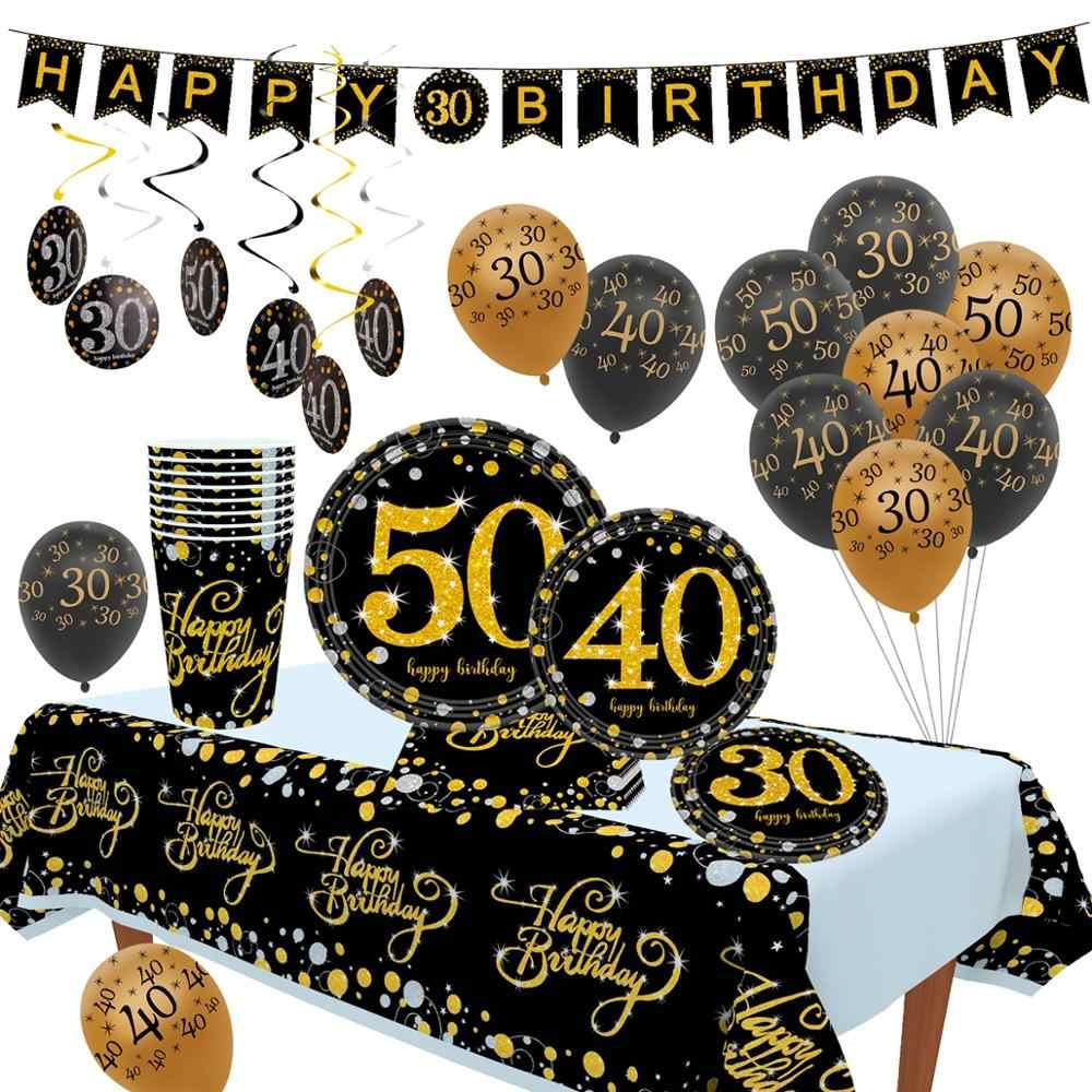 Staraise 10pcs 12 inch Birthday Balloon 30 40 50 Birthday Party Decor Adult 30th 40th 50th Birthday Party Decorattioni
