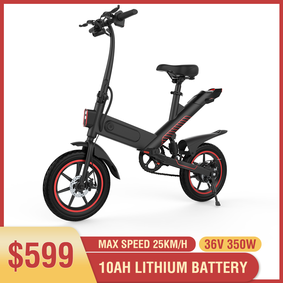 350W Electric Bike 10ah Lithium Battery Electric Bicycle 14 inch Folding ebike 50km Range Women Men e-bike City Mini e bike