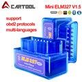 Супер Мини ELM327 V1.5 PIC18F25K80 чип OBD2 диагностический сканер Elm 327 Bluetooth/Wi-Fi, V1.5 OBDII адаптер Авто диагностический инструмент