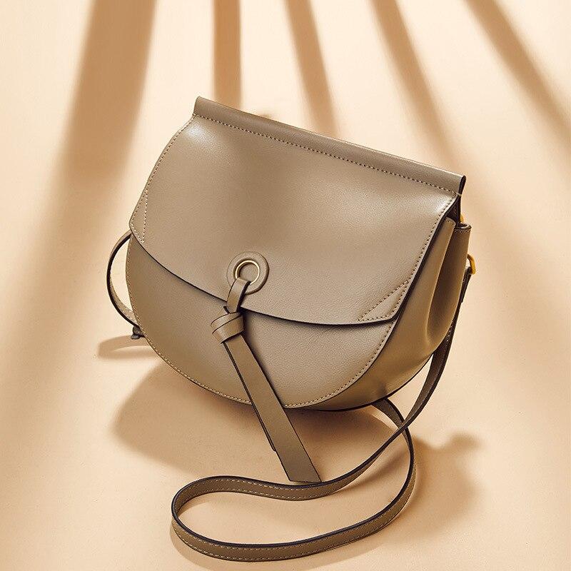 Крутая женская сумка 2019 новая стильная хипстерская художественная маленькая круглая сумка модная деликатная простая универсальная женска... - 3