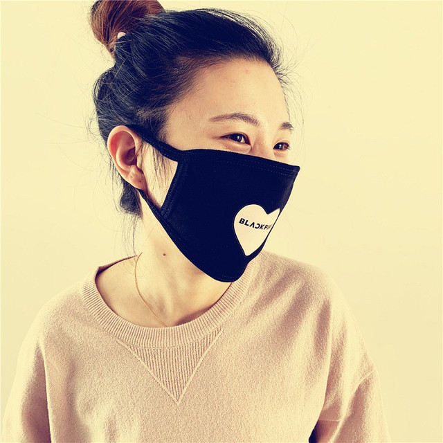 KPOP BlackPink Twice Seventeen Got7 EXO Cotton Breathable Mask Dustproof Face Mask Outerdoor Mask wj338 2