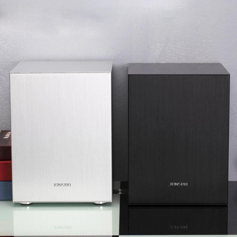 Jonsbo c2 alumínio mini itx microatx computador caso desktop computador chassi suporte atx potência itx matx placas-mãe