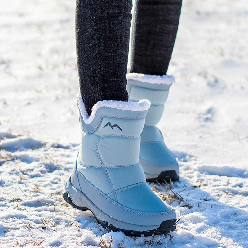 נשים שלג מגפיים חדש 2019 חורף מגפי קטיפה חם עמיד למים החלקה נשים מגפי botas de mujer