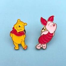 Disney Winnie Pig Enamel Pin Animal Kawaii Little Piggy Brooch Badge Clothes Lapel Pin Wholesale Jewelry Gift For Friends Kids