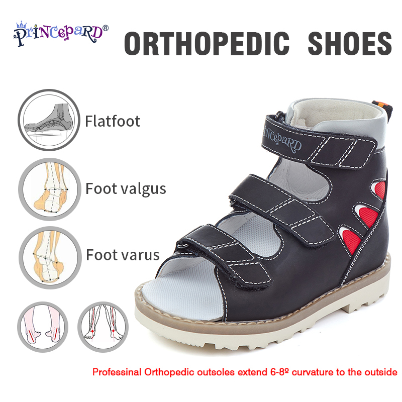 2019 Princepard New Summer Chilren Orthopedic Sandals Professional Orthoepdic Outsole And Orthopedic Insoles Size 20-36