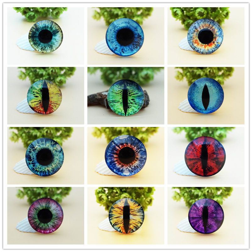8MM10MM12MM14MM16MM18MM20MM Round Dragon Cat Eyes Cabochon for make bracelet necklace for women earring pins brooch craft supply