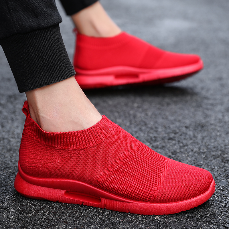 Damyuan Men Light Running Shoes Jogging Shoes Breathable Man Sneakers Slip on Loafer Shoe Men's Casual Shoes Size 46 2020 4