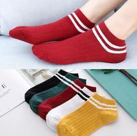 2019 New SB119 Men's Socks Cotton Stripe Boat Socks All Seasons Spring Casual Harajuku Breathable Men Ankle Sock