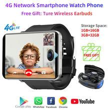 4G LTE Smart Uhr Männer Telefon Android 7,1 3GB 32GB 2700mAh Bluetooth Modische Smartwatch 5MP Kamera smartphone Herz Rate