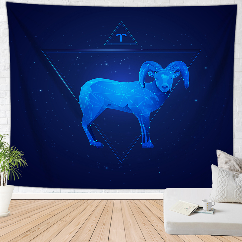 constellation Aries tapestry home decor tapisserie murale mandala doek bohemian wall carpet image