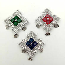 1pc 56x65mm gold Filled Cz micro pave flower connector/pendant for necklace(China)
