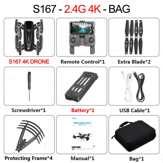 2020 New GPS Drone With Camera 5G WIFI FPV RC Foldable Quadcopter Drone 4K Off-Point Flying Gesture Photos Video Helicopter Toy