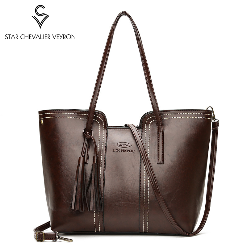 SCV New Casual Women's Handbags Pu Leather Female Shoulder Bag Designer Luxury Lady Tote Bag Large Capacity Zipper Crossbody Bag