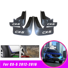 Car Rear Front Mud Flaps Fender Flares Splash Guards Mudguards for Mazda CX-5 CX5 2012 2013 2014 2015 2016 car styling abs front rear door mud splash flap guard fender for honda cr v 2015 crv 4dr mudguards 2012 2013 2014 2015 black