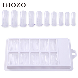 100Pcs Quick Building Mold Tips Nail Dual Forms Finger Extension Nail Art Tools