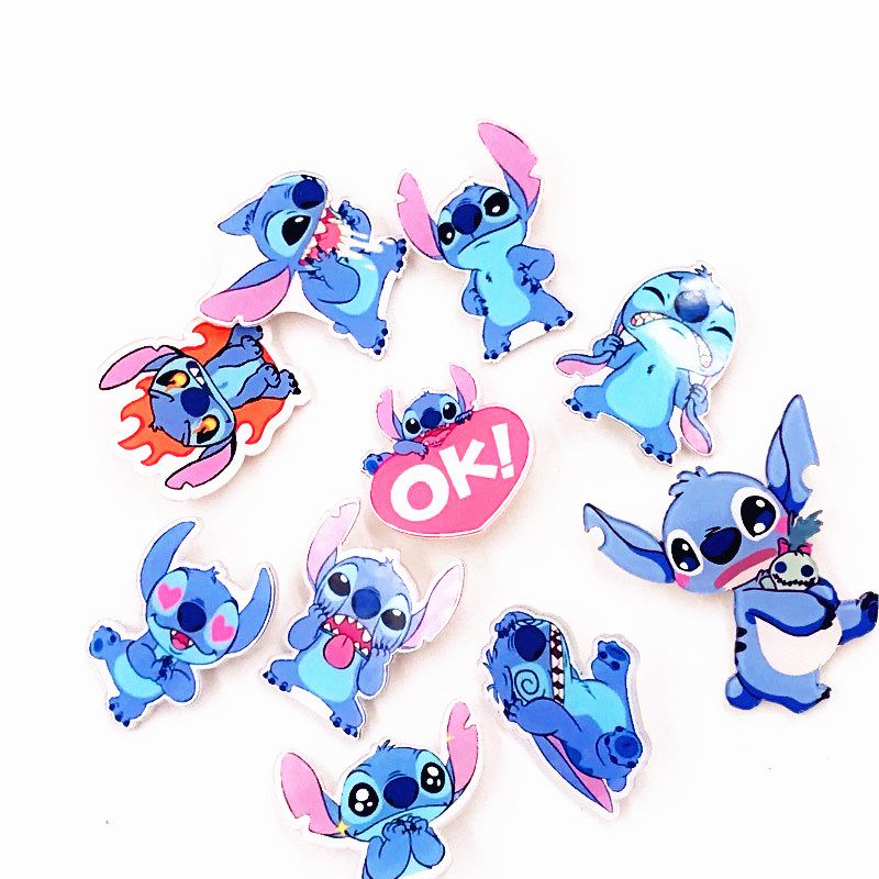 1pcs Cute Anime Cartoon Lilo & Stitch Brooches For Women Men Acrylic Lapel Pin Denim Jackets Collar Badge Icon Backpack Gift