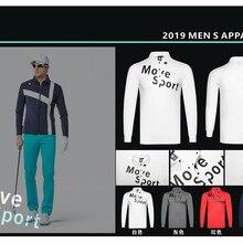 Qмужская спортивная одежда с длинным рукавом, одежда для гольфа, S-XXL на выбор, Повседневная рубашка для гольфа