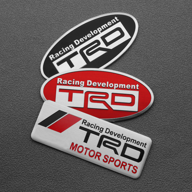 1PCS Auto Car Styling 3D Racing Development TRD Sticker Emblem Decal For Toyota Car Tail Fender Exterior Body Decoration