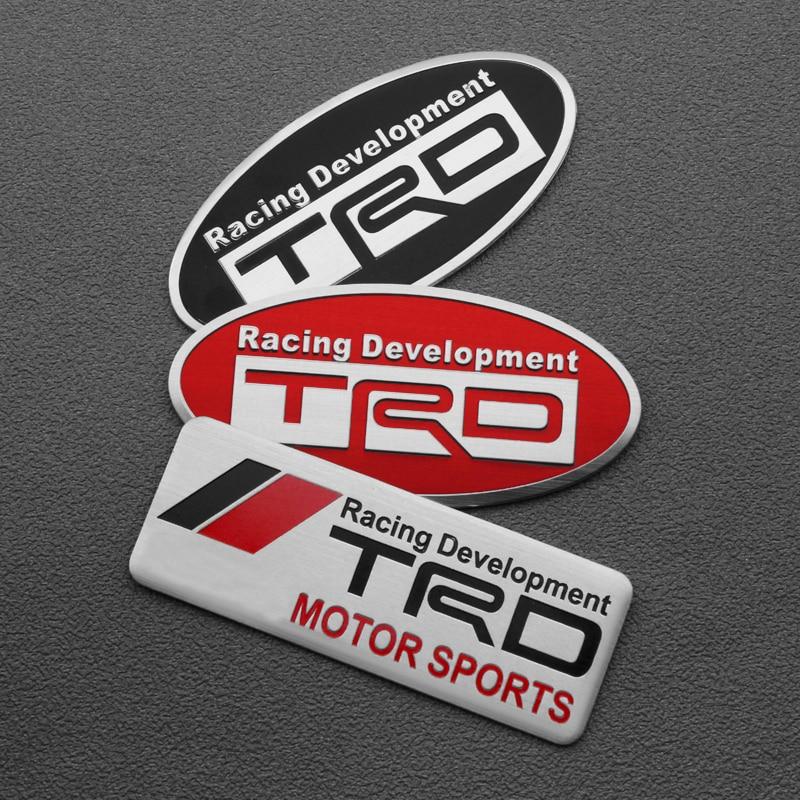 Car Styling TRD Racing Development Sport Emblem Stickers For Toyota CROWN Camry REIZ TRD LOGO Auto Decoration Accessories