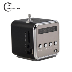 Portable FM Radio with Micro SD / TF / USB 8GB card receiver MP3 Music Player Built-in LINE IN audio interface Speaker LCD Stere