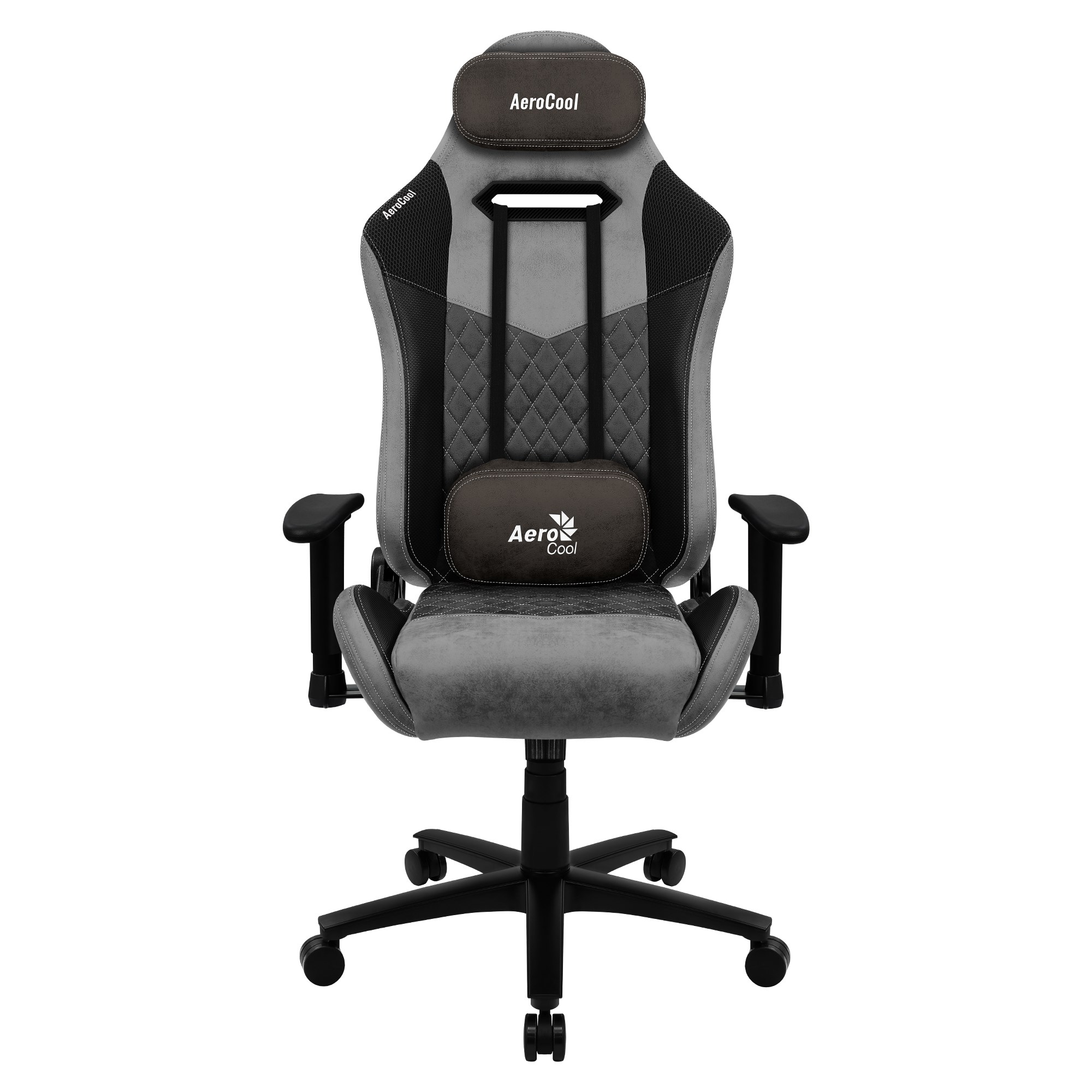 Aerocool DUKE, Gaming Chair, AeroSuede Breathable, Backstop Adjustable, Black