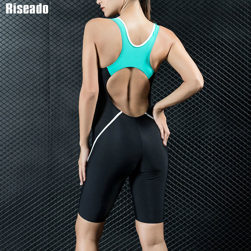Image 2 - Riseado Sport Racing One Piece Swimsuit Women Competition Swimwear Boyleg Racerback Swimming Suits for Women Bathing Suits    -