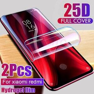 Image 1 - 2pcs Screen Protector Hydrogel Film Für Xiaomi Redmi hinweis 7 8 9 5 10 pro Schutz Film Auf Redmi 9 9A hinweis 9S 9 4X 7A Nicht Glas