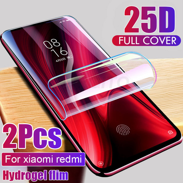 2pcs Screen Protector Hydrogel Film For Xiaomi Redmi note 7 8 5 pro Protective Film For Redmi note 9S 9 4X 7A K20 pro Not Glass