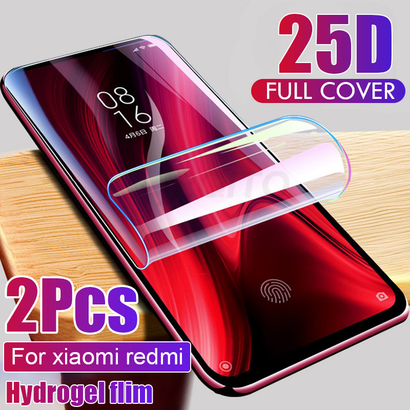 2pcs Screen Protector Hydrogel Film For Xiaomi Redmi note 7 8 9 5 10 pro Protective Film On Redmi 9 9A note 9S 9 4X 7A Not Glass(China)
