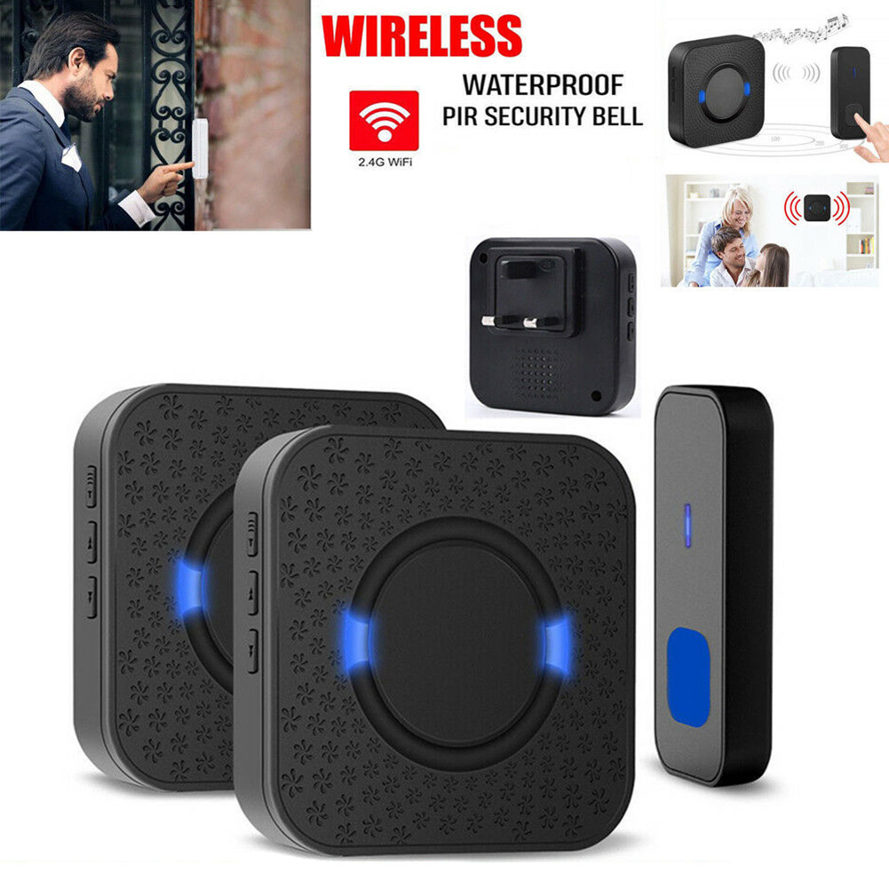 Newly Wireless Door Bell Twin Wall Plug In Waterproof Smart Door Chime Kit 300M 999