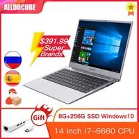 Alldocube i7Book 14 inch IPS Intel i7 6660U Windows 10 8GB RAM 256GB ROM SSD Notebook laptop computer WIN10 PC 1