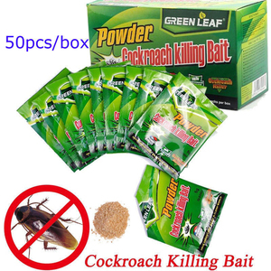 Image 5 - 50 개/상자 상자 바퀴벌레 함정 바퀴벌레 죽이는 미끼 홈 효과적인 분말 Repeller 정원 해충 방제 킬러 거부 용품