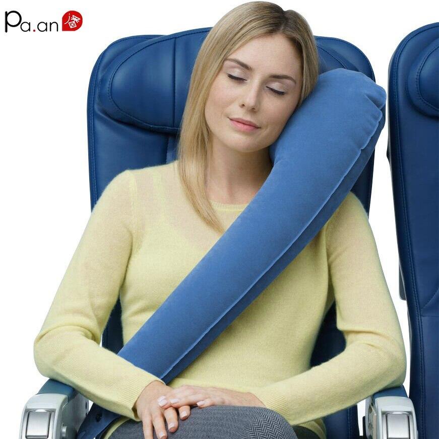 Travesseiro de viagem inflável pescoço ergonômico travesseiro de viagem ajustável namorado travesseiro do corpo para viagem escritório nap o