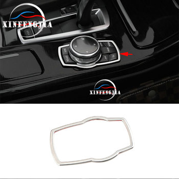 For BMW 1 2 3 4 5 7 Series X1 X3 X4 X5 X6 F30 F36 F10 F01 F15 F16 Inner Multimedia Button Frame Trim image