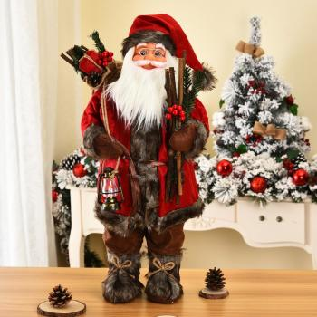 New 30/45 Cm Santa Claus Doll Christmas Decoration New Year Gift Christmas Tree Decor Creative Plush Santa Claus Toy Ornaments недорого