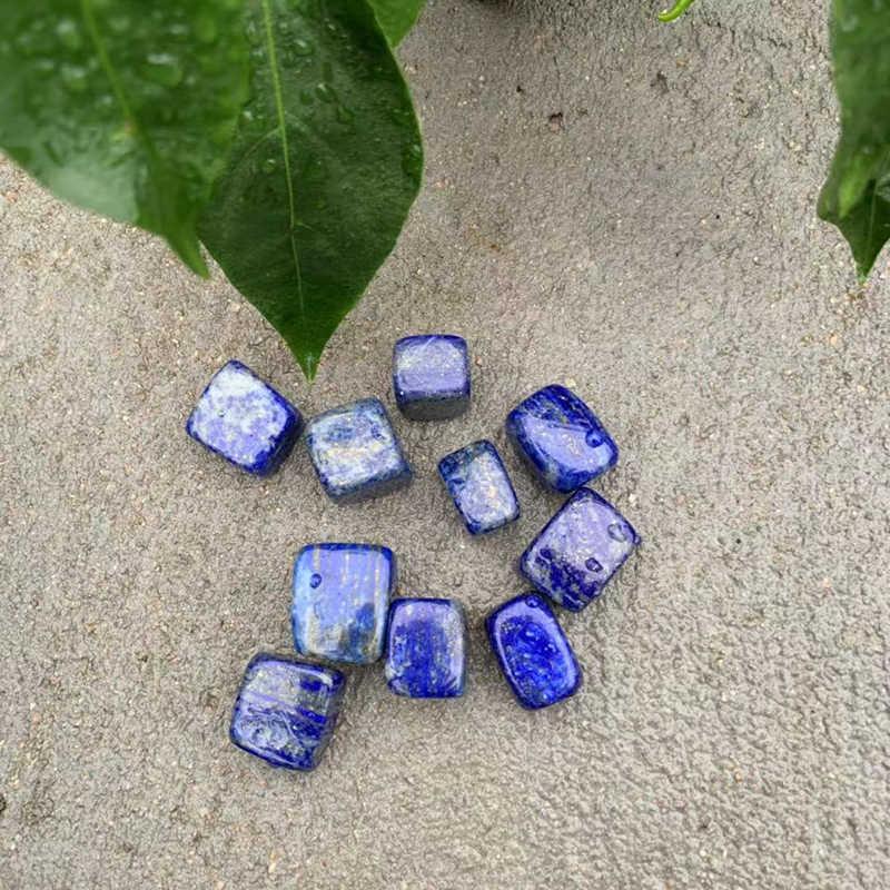 10 ชิ้น/เซ็ต Smooth Stone Solid Lapis กรวดคริสตัลอัญมณีหัตถกรรมหินและคริสตัลหน้าแรกตกแต่งคริสตัล