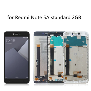 Image 2 - ل شاومي Redmi ملاحظة 5A lcd مجموعة المحولات الرقمية لشاشة تعمل بلمس مع الإطار ل Redmi ملاحظة 5A رئيس عرض 2/3/4 جيجابايت إصلاح أجزاء