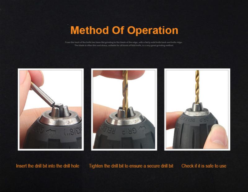 Juego de Brocas HSS con revestimiento de titanio de 200/100 Uds. 1/1, 5/2, 0/2, 5/3mm