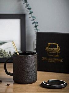 Простая винтажная чайная кофейная кружка Warmerl черная офисная, дорожная кружка кофейная чашка керамический набор кубек лего бутылка для вод...