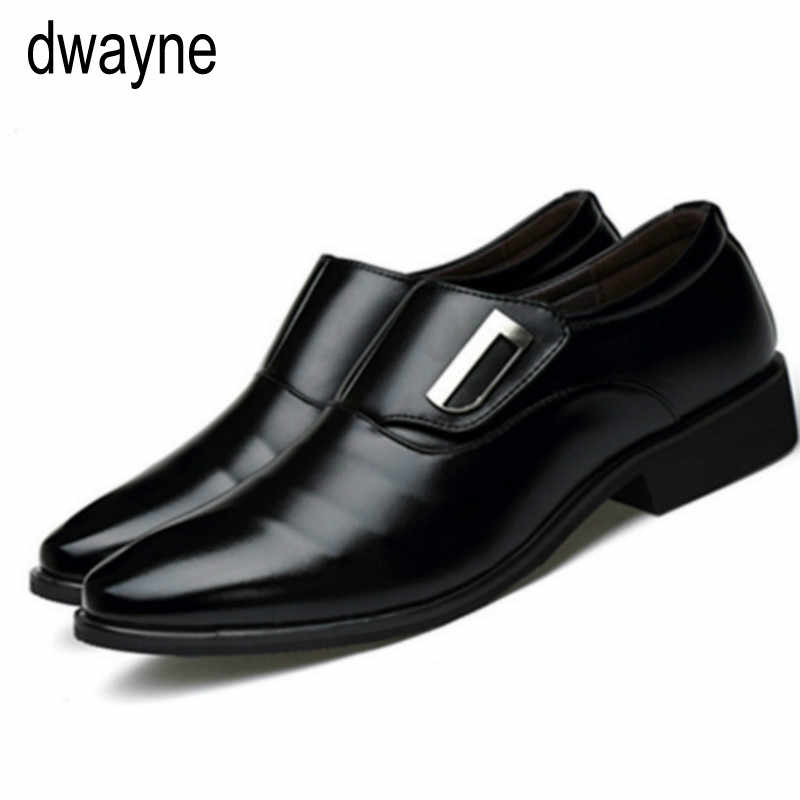 2019 חדש גברים של אופנה בסגנון בריטי הבוהן מחודדת חתונה עסקי עור רשמי שמלת נעלי קיץ דירות נעלי אוקספורד גברים u90