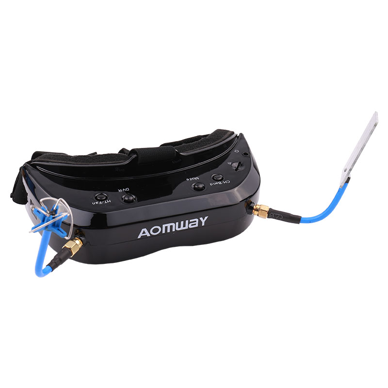 AOMWAY Commander V1S 64CH 3D Video Glasses FPV Artifact 5.8G Head wearing Myopia Available,Upgraded version of V1 - 3