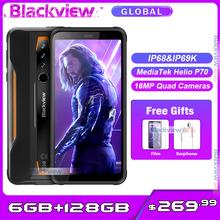 Blackview BV6300 Pro Helio P70 Octa Core 6GB + 128GB IP68 wodoodporny smartfon Quad aparaty Android 10 0 telefon komórkowy z NFC 4380mAh tanie tanio Nie odpinany Inne CN (pochodzenie) Rozpoznawania linii papilarnych Rozpoznawania twarzy 16MP Adaptacyjne szybkie ładowanie