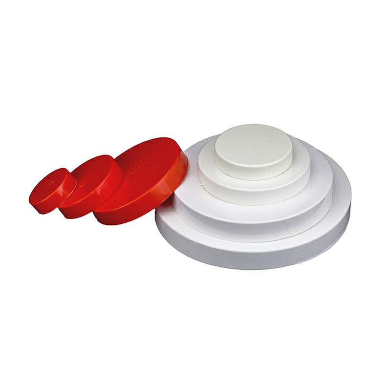 2pc 50-200mm Round PVC Pipe Cover Plastic Tube Blanking End Caps Insert Plug Decorative Dust Cover Drain Pipe Protection Fitting