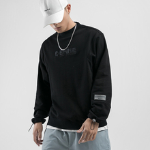2019 New Autumn Japan Style Fashion Stereoscopic Embroidery Mens Sweatshirts Casual Male PulloverS Outerwear Streetwear Loose