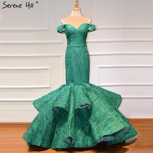 Image 4 - Zielony Sweetheart Sexy suknie ślubne w stylu vintage 2020 cekinami syrenka bez rękawów suknie ślubne prawdziwe zdjęcie HM66614
