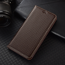 Business Genuine Leather Magnetic Flip Cover For XiaoMi Poco F1 F2 M2 X2 X3 NFC C3 M2 M3 Pro Clas Case Luxury Wallet