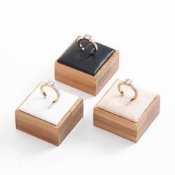 Модные украшение в форме бамбука кольцо Дисплей Стенд Держатель Витрина ювелирные изделия Дисплей Организатор Стенд 4*4*2,5 см