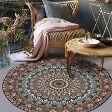 Alfombra Vintage con patrón de flores para sala de estar, mesa de comedor, accesorios de alfombra navideña, lavado mecánico
