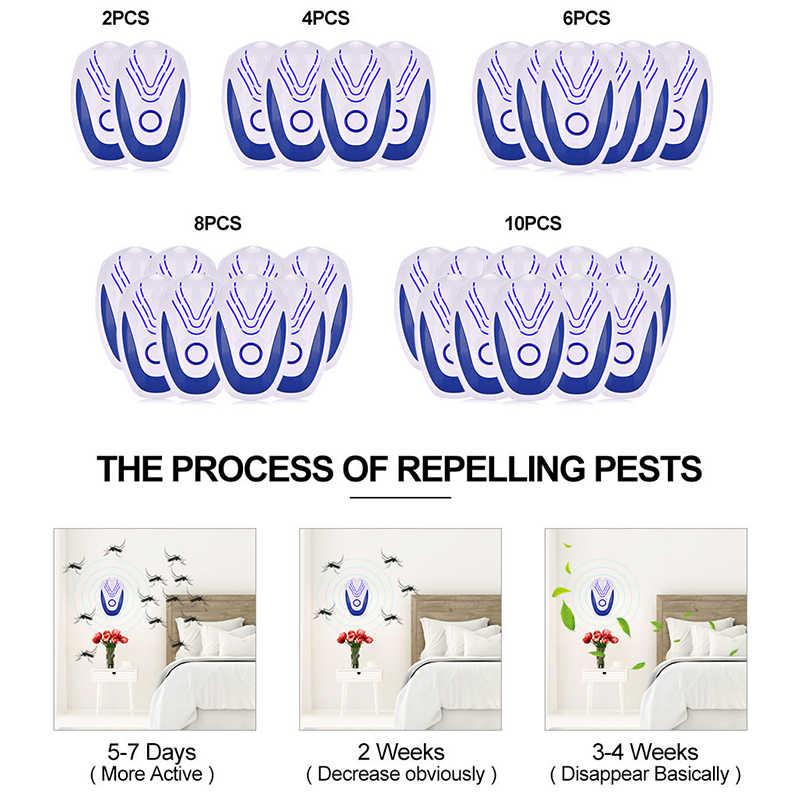 Plagas ultrasónicas Repelente electrónico Ratones Rechazo de ratas 6pcs-Repeller