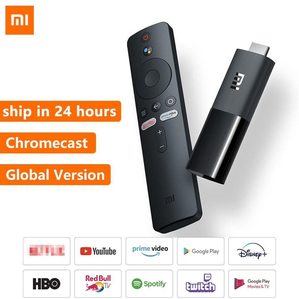 Глобальная версия Xiaomi Mi TV Stick Android TV 9,0 Quad-core Dolby DTS HD Двойное декодирование 1G 8G Chromecast Xiaomi TV Stick